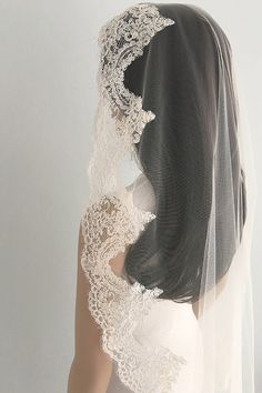 Full lace edge veil