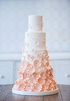 Cake by Bobbette & Belle | Textured Wedding Cakes | Ivory and Rose Cake Company | Bridal Musings Wedding Blog