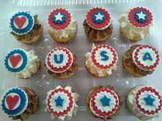 Independence Day cupcake toppers