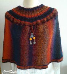 Chauffe épaules tricoté main en laine aux couleurs lumineuses : Echarpe, foulard, cravate par madilaine