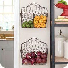 <3 Great idea!!! Letter racks for storing fresh produce!