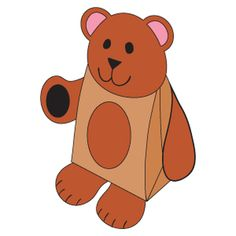 Paper bag craft for your favorite bear book - Bear Snores On, Bear Gives Thanks, etc.