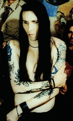 When Marilyn Manson (Brian Warner) was young and didn't look as creepy. Either way I love him xD