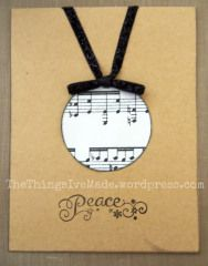 Music Note Ornament Christmas Card