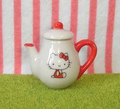 Vintage 1976 Sanrio : Little Kitty Miniature Collection : Hello Kitty Tea Pot #28 by HarapekoDoggyBag, via Flickr