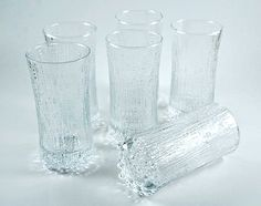 Tapio Wirkkala Ultima Thule glassware for Iittala, Finland Set of six juice/whisky sour glasses cl. Carafe, Whisky, Finland, Scandinavian, Glass Vase, Tea, Retro, Kitchen Products, Glasses