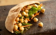 3 tablespoons apple cider / rice vinegar 1 tblsp soy sauce 1 tsp mustard, 1 tblsp  tahini 3 tblsp water 2 1/2 cups chick peas 1/2 cup green onions 1/2 cup grated carrots 1/2 bunch parsley Whisk together vinegar, tamari, mustard, tahini and water in a medium bowl. Add beans, green onions, carrots and parsley, toss to combine and set aside at room temperature to let marinate for at least 15 minutes before serving.