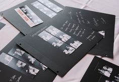 Photo Booth Strip Scrapbook as guest book Photo: Clane Gessel Photography // Featured: The Knot Blog