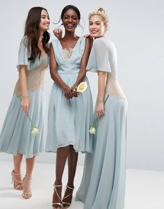 Discover the latest fashion & trends in menswear & womenswear at ASOS. Latest Fashion Clothes, Latest Fashion Trends, Fashion Online, Asos Wedding, Bridesmaid Dress Colors, Robes Midi, Going Out Dresses, Lace Insert, Blue Dresses