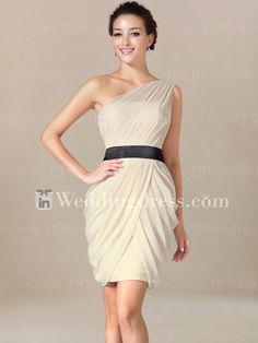 Beach Bridesmaid Dress with Draped Skirt You can choose dress color and sash color! Discount Bridesmaid Dresses, Bridesmaid Dresses Under 100, Champagne Bridesmaid Dresses, Bridal Party Dresses, Wedding Dresses, Wedding Attire, Draped Skirt, Dress Sash, Dream Wedding