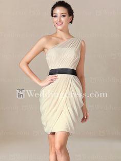 Beach Bridesmaid Dress with Draped Skirt BR003