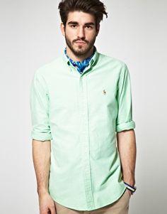 Polo Ralph Lauren Slim Fit Plain Oxford Shirt
