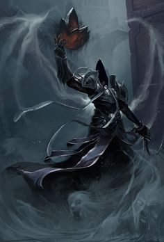 Malthael for deviantart's Diablo 3 fan-art contest. Fantasy Warrior, Fantasy Rpg, Dark Fantasy Art, Fantasy Artwork, Elves Fantasy, Heroes Of The Storm, Grim Reaper, Dark Reaper, Angels And Demons