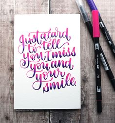 Marker Blended Lettering Card – Tombow Dual Brush Pens – kwernerdesign blog Calligraphy Quotes Motivation, Calligraphy Quotes Love, Brush Lettering Quotes, Lettering Styles, Lettering Design, Tombow Markers, Sharpie Markers, Tombow Dual Brush Pen, Letter Stencils