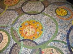 Detail mosaique sol