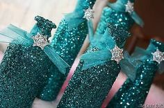 Glittered Vases Wedding Special Occassion Turquoise Centerpieces Rhinestone | eBay