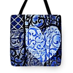 Old Love Stories Blue Tote Bag  http://fineartamerica.com/products/old-love-stories-blue-sarah-loft-..  #totebags #sarahloft #digitalart #digital #abstract