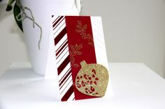 Christmas Card, Carte de Noël, Weihnachtskarte handmade wih Stampin' Up!, DSP Zauberhaft, Irresistibly Yours Special Designer Series Paper, Sale a Bration, Zauberhafte Zierde, Delicate Ornament Thinlits Dies, Berlin Stampin' Up!, SU   https://stempelnstanzenstaunen.wordpress.com/