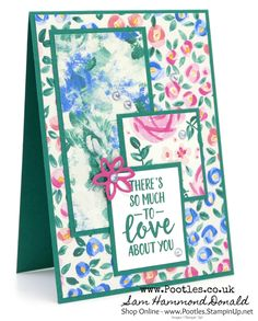 #1 Stampin' Up! Demonstrator Pootles -Garden Impressions and Shaded Spruce