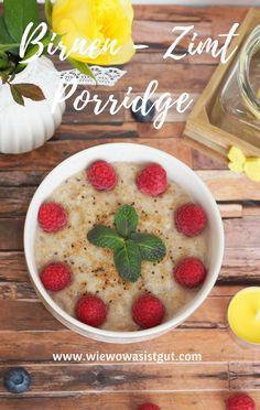 Etwas Warmes braucht der Mensch, am besten auch Morgens im Winter. Porridge ist richtig lecker und ist im Nu hergestellt (vor allen Dingen im Thermomix) . Ein lang sättigendes Frühstück, welches total variabel ist. Diesmal hab ich es mit Birne und viel Zimt gemacht. #frühstück #porridge #zimt