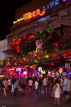 Bangla Road in Phuket comes to life when the sun goes down. The road is shut to cars and b...