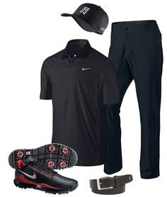 Tiger Woods went for the black on black look for Friday at the 2014 Open Championship.