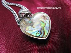 316L Surgical Steel Abalone Heart Pendant