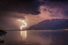 Depuis La Tour-de-Peilz Intempéries: L'orage sème la pagaille - Suisse - lematin.ch Photos, Sailing Adventures, Celestial, Geneva, Tour, Outdoor, Lake Geneva, Vineyard, Switzerland