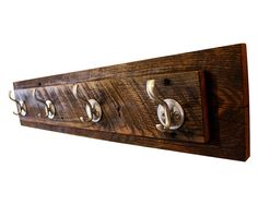 Reclaimed Wood Coat Rack Made of Red oak Approximate Dimensions: 28 x 6 x 3