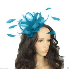 Dark Turquoise Fascinator for Ascot, Weddings, Proms, Derby, Formal Events
