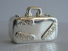 Tiffany Pillbox Sterling Silver Suitcase Pill Box Vintage on Etsy, $725.00