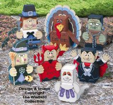 fall holiday patio paver pals pattern decorate for halloween and . - fall holiday patio paver pals pattern decorate for halloween and … - Painted Bricks Crafts, Brick Crafts, Painted Pavers, Brick Projects, Concrete Crafts, Painted Pots, Easy Projects, Garden Projects, Wood Crafts