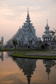 El templo blanco (Wat Rong Khun) de Chiang Rai, Tailandia