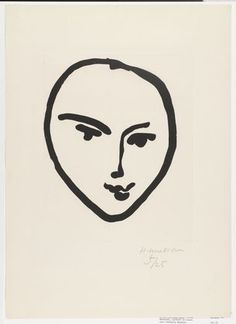 illustration woman face profile matisse