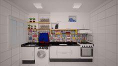 Projeto de Interiores - Apartamento S&A Cozinha