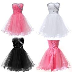 3Color New Formal Homecoming Prom Ball Gown Cocktail Short Party Evening Dresses #Unbranded #BallGown #Cocktail