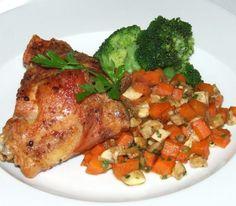 Udka z kurczaka z pieczarkami i brokuły