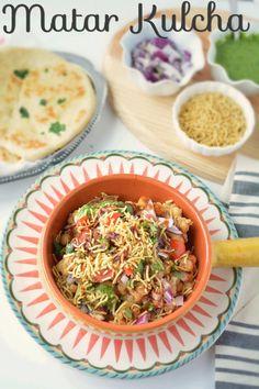 Take a trip down the memory lane with this lip-smackingly delicious Indian Matar Kulcha Recipe. Step by step Delhi style Matar kulcha, Matra ki chaat recipe Kulcha Recipe, Chaat Recipe, Biryani Recipe, Veggie Recipes, Indian Food Recipes, Cooking Recipes, Ethnic Recipes, Gujarati Recipes, Veggie Food
