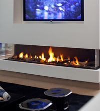 open gas fireplace with low hearth Bardis Fireplaces Pinterest