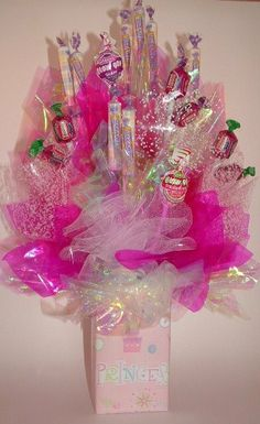 Princess CASTLE Candy Bouquet  Centerpiece or Gift by CandyFlorist, $20.00
