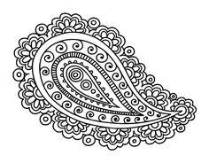 Dibujo Mandala lágrima pintado por choko