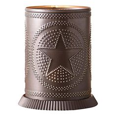 Irvins Country Tinware Candle Warmer with Regular Star in Kettle Black >>> Learn more by visiting the image link. (This is an affiliate link) Candle Wax Warmer, Rustic Candle Holders, Metal Rack, Candle Accessories, Rustic Style, Rustic Decor, Farmhouse Decor, Rust Color, Metal Tins