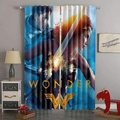 3D Printed Wonder Woman Style Custom Living Room Curtains #GreenCurtains 3d Curtains, Green Curtains, Custom Curtains, Blackout Curtains, Panel Curtains, Custom Bedding, Hanging Curtain Rods, Woman Style, Digital Prints