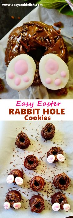 Easter Rabbit Hole Cookies are easy and quick to prepare... basically made with a mixture of 5 ingredients: Nutella, egg, melted butter, flour, and sugar.