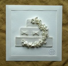 White WEDDING CAKE Original Paper Sculpture by Simply Elegant Paper Sculptures on Etsy, £107.94