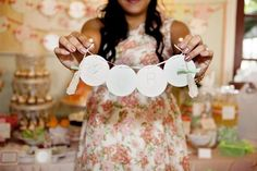 Shabby Chic Baby Shower SO MANY IDEAS via KarasPartyIdeas.com #BabyShower #ShabbyChic #PartyIdeas #ShowerIdea