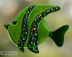 Fused Glass Angel Fish