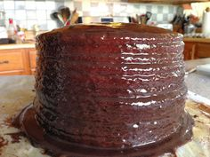 EAT REAL FOOD: 12 Layer Cake with Old-Fashioned Boiled Chocolate Icing