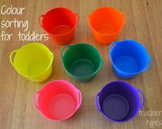 teacher types: Colour Sorting for Toddlers