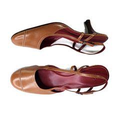 661110e6651d Cole Haan Heels Women Size 10 Kitten Slingback Ankle Buckle Leather Light  Brown  ColeHaan  PumpsClassics  Dress